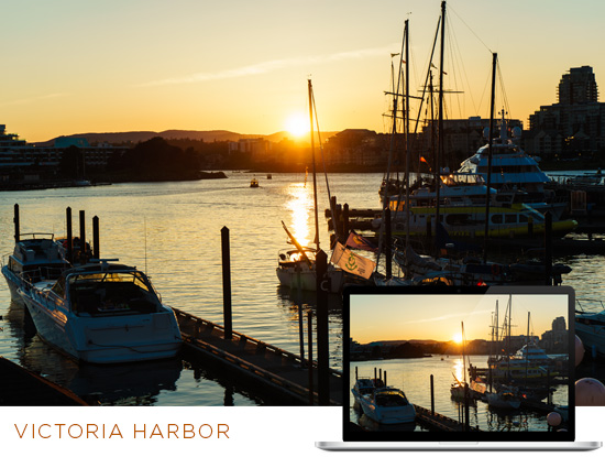 FREE Alaska Wallpaper Download: Victoria Harbor at Sunset