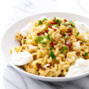 Roasted Cauliflower Carbonara with Burrata