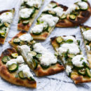 Zucchini Flatbread with Lemon Ricotta