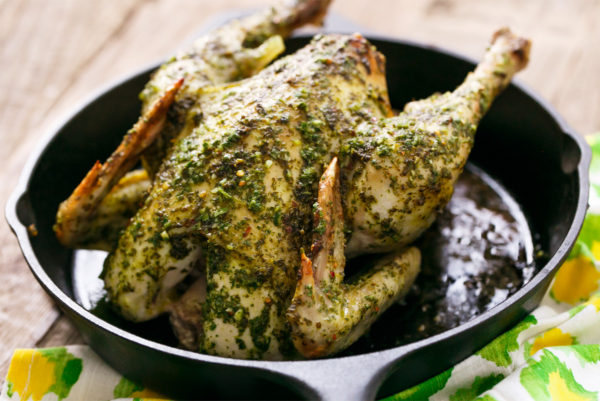 Roasted Chicken with Cilantro Chimichurri