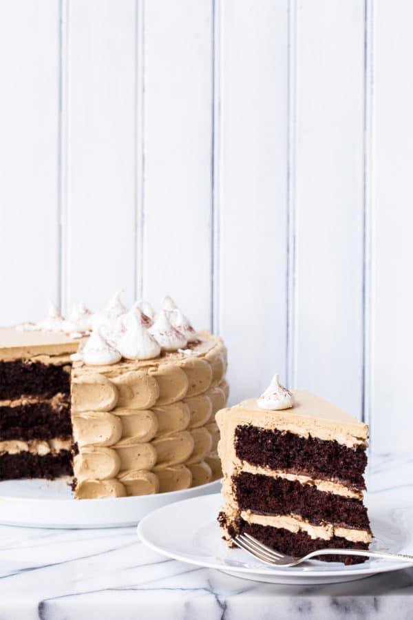 Chocolate Sweet Potato Layer Cake with Molasses Buttercream