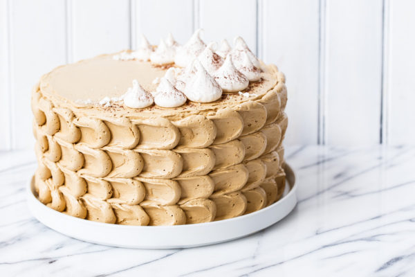 Chocolate Sweet Potato Layer Cake with Molasses Buttercream