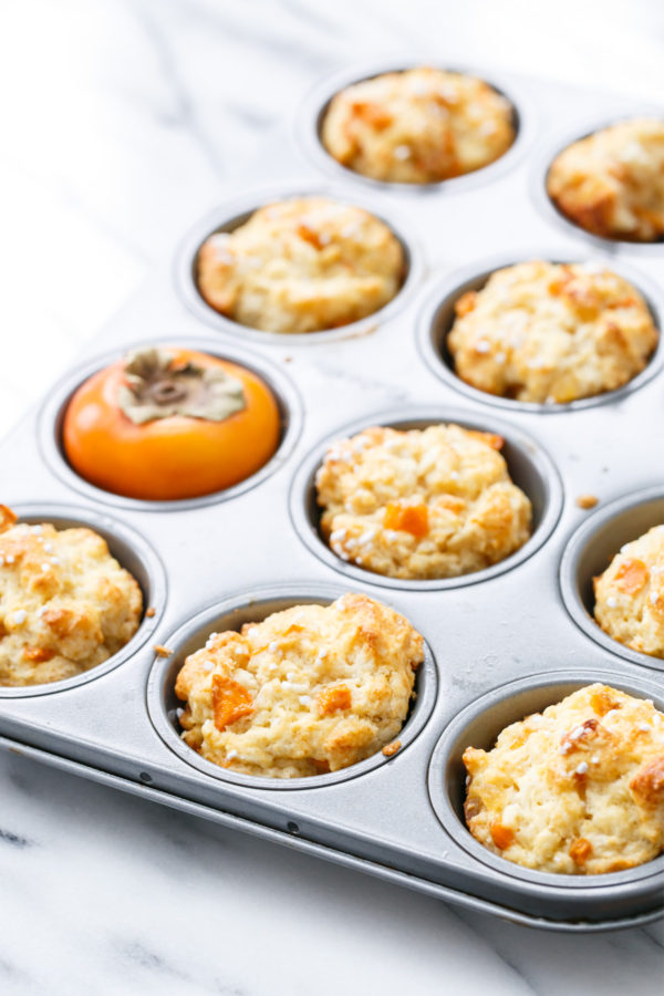 Ginger Persimmon Scone Muffins