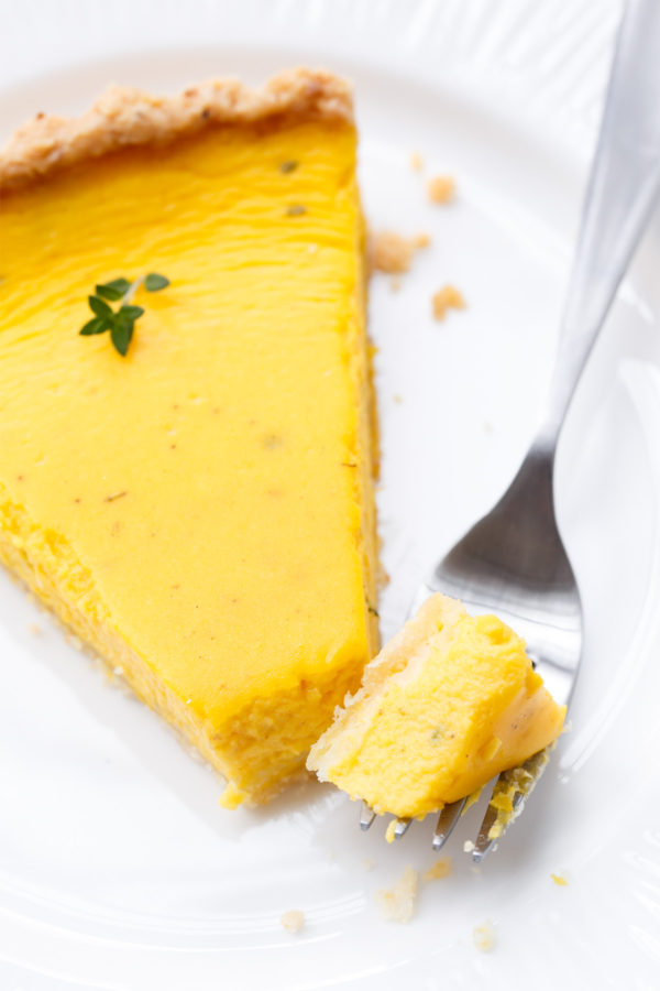Savory Squash Quiche with Goat Cheese and Thyme