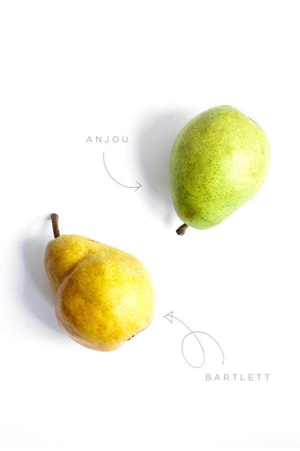 Anjou and Bartett Pears