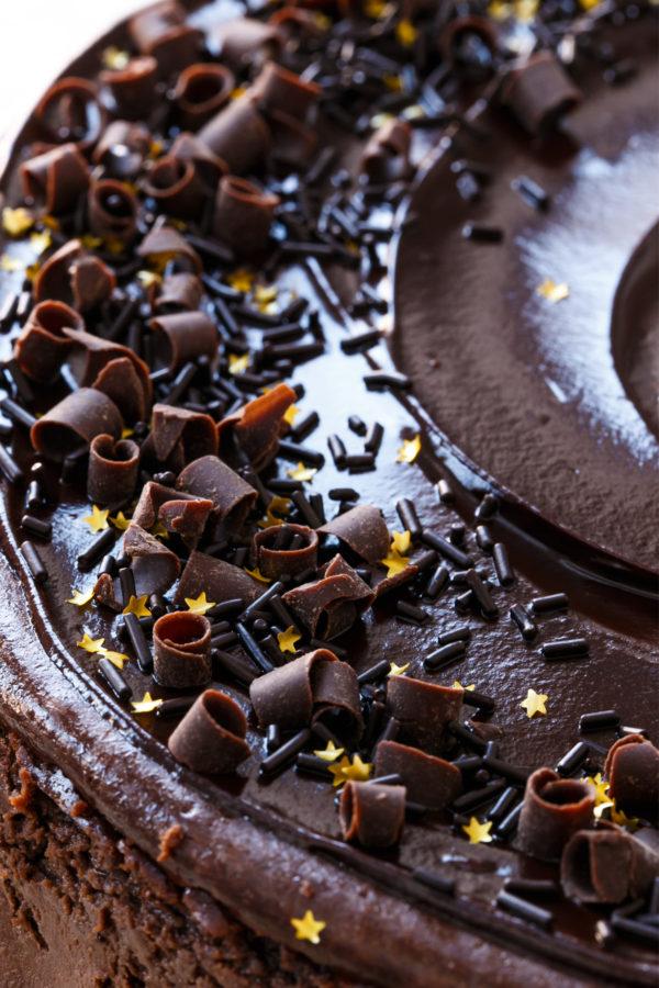 Triple Chocolate Cheesecake Recipe with Chocolate Ganache Glaze