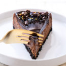 Creamy Dark Chocolate Cheesecake Recipe with Chocolate Ganache Glaze