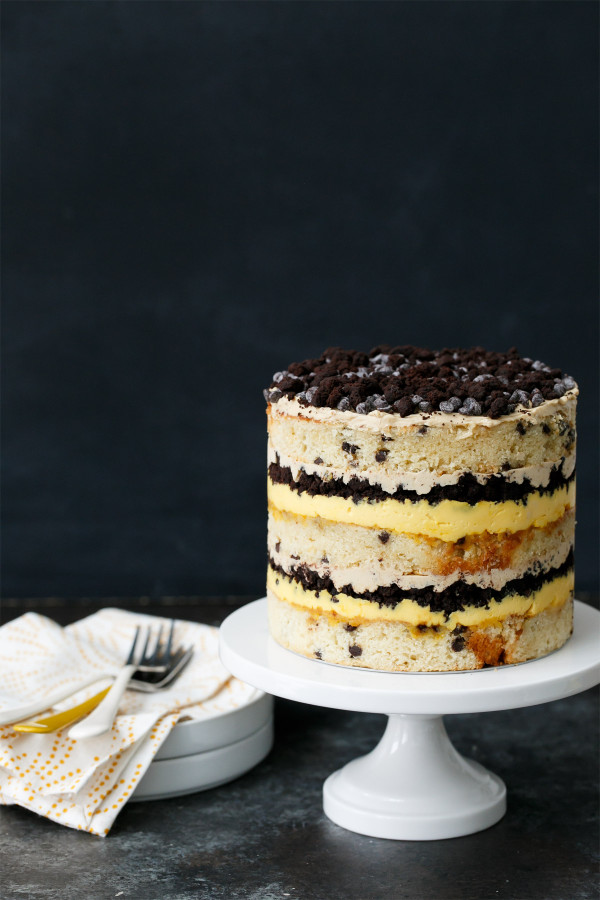 Milk Bar Chocolate Chip & Passionfruit Naked Layer Cake Recipe