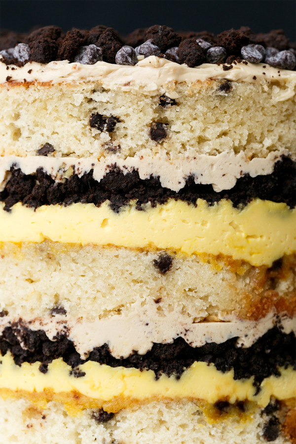 Buttermilk Chocolate Chip Passion Fruit Naked Layer Cake Love
