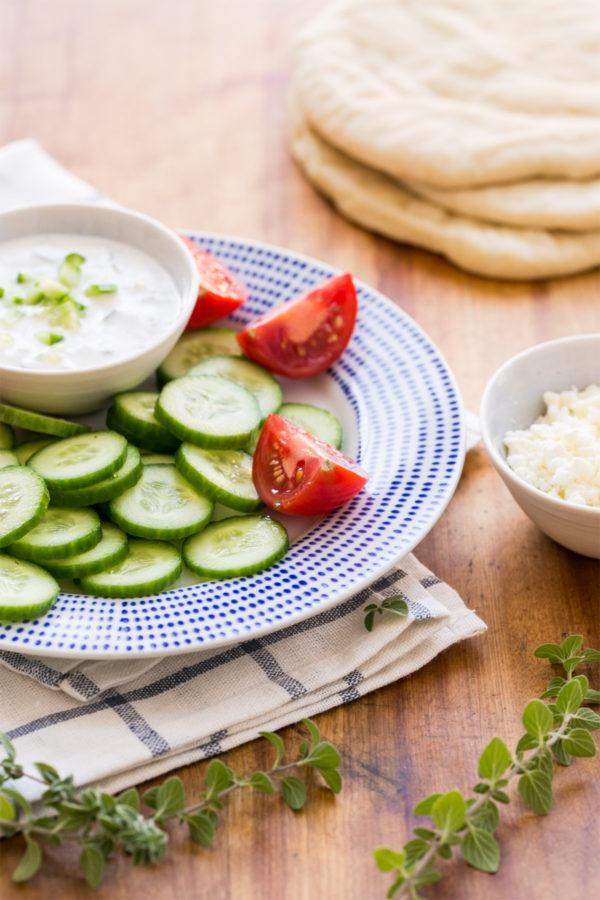 Greek Turkey Gyro Tacos