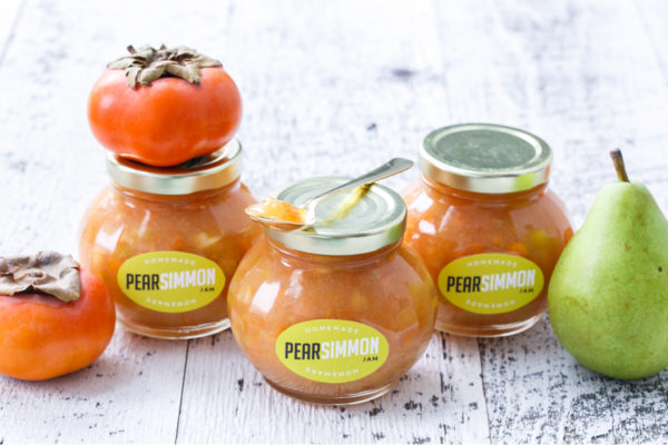 Pear and Persimmon Jam and Free Downloadable Labels