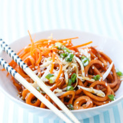 Spiralized Sweet Potato Soy Sauce Noodles