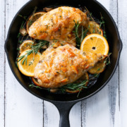 Orange Marmalade Skillet Roasted Chicken Breasts