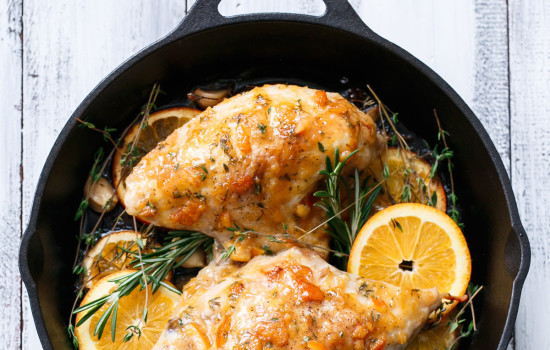 Orange Marmalade Skillet Roasted Chicken Breasts