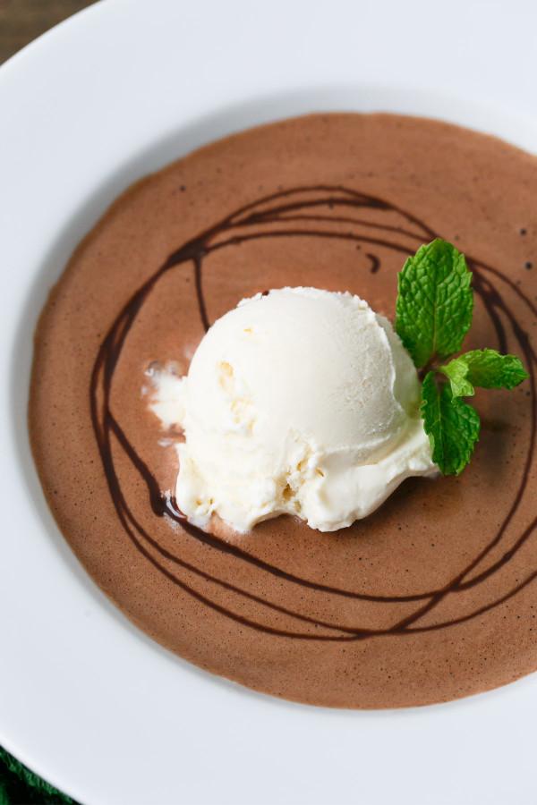 Mint Chocolate Dessert Soup