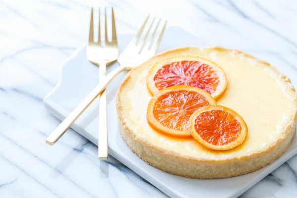 Orange Blossom Almond Tart