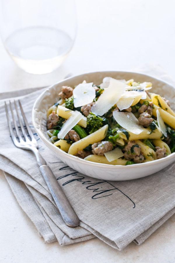 Weeknight Pasta with Italian Sausage and Broccoli Raab