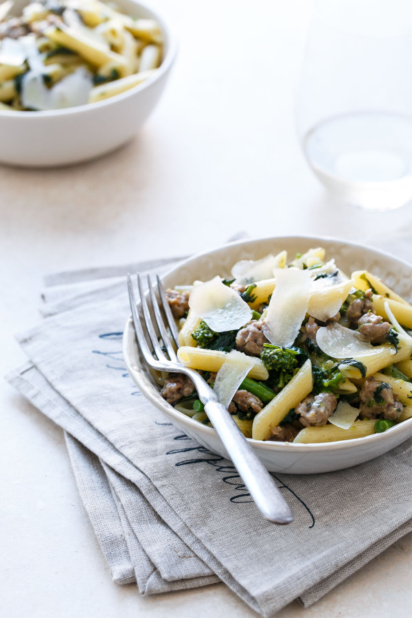 Quick Weeknight Dinner Recipe: Penne with Italian Sausage and Broccoli Raab