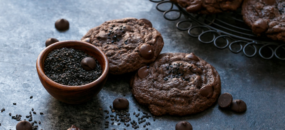 Chocolate Black Sesame Cookies