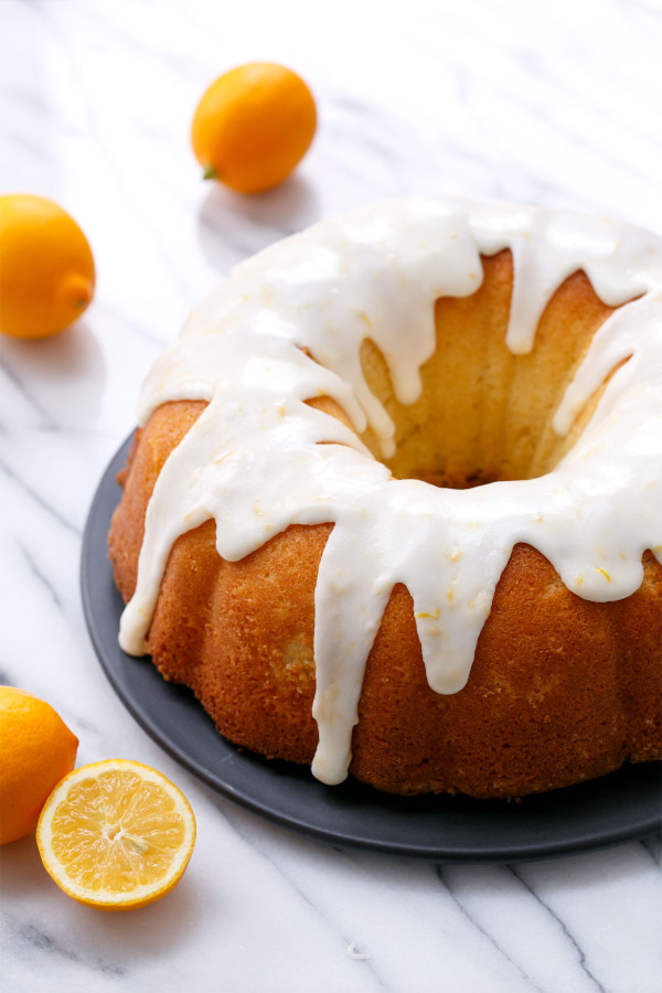 My Big Fat Greek Yogurt Meyer Lemon Bundt Cake