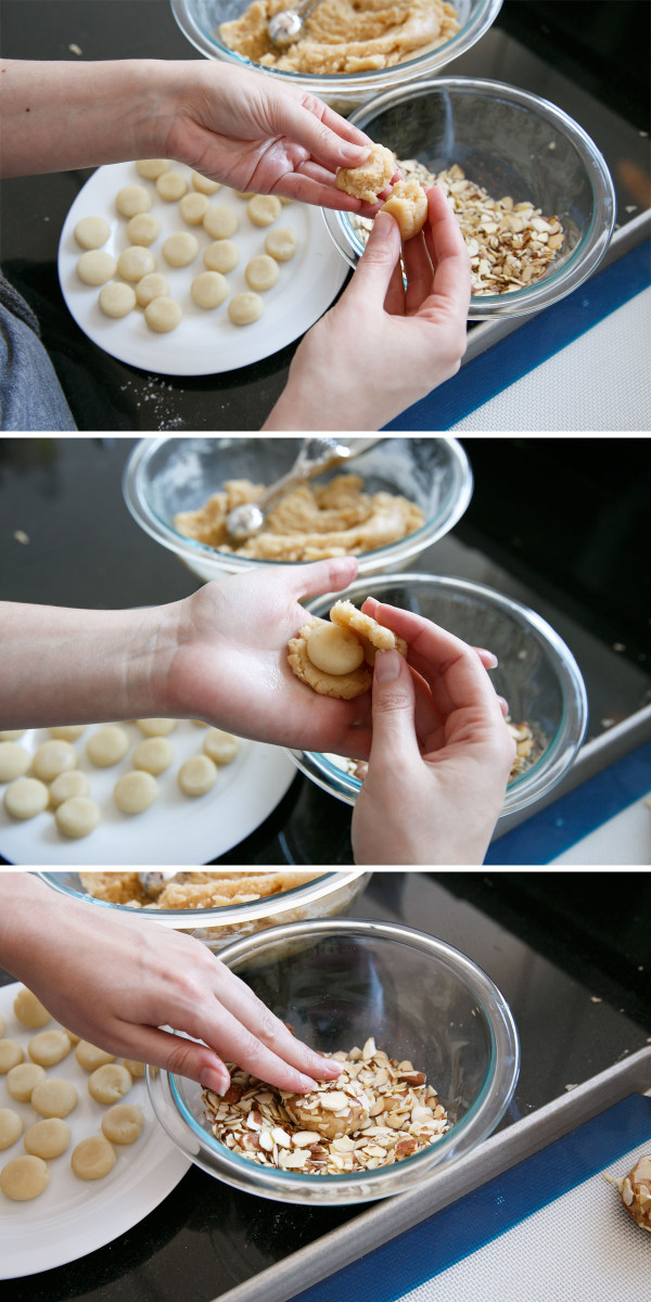 Soft Almond Sugar Cookies Stuffed with Marzipan