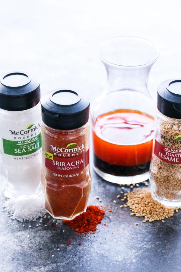 Sesame Sriracha Buddha Bowls featuring McCormick Gourmet Spices