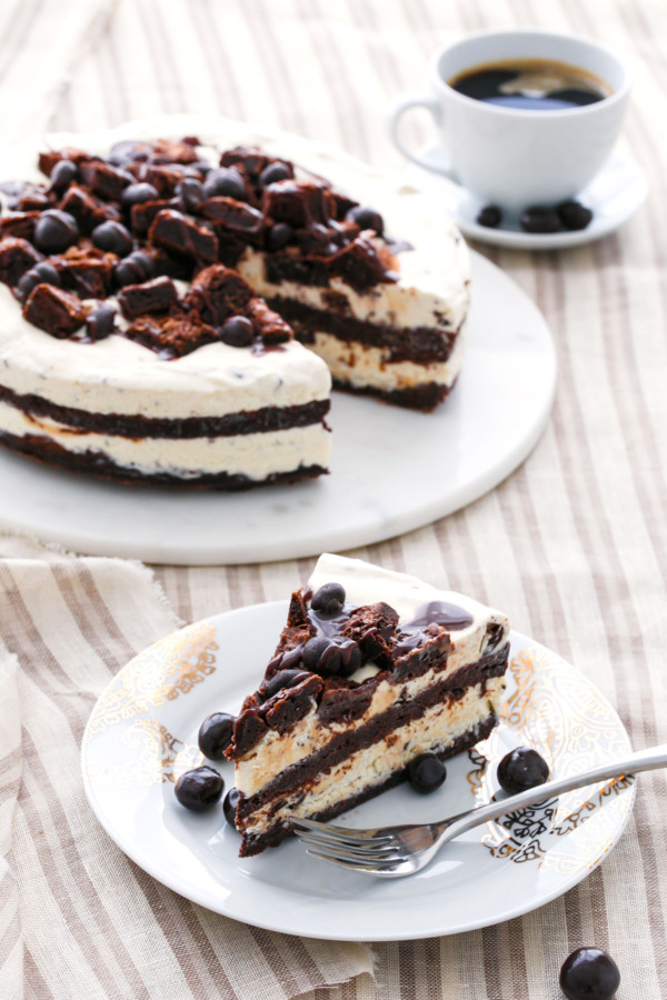 Espresso Fudge Brownie Mudslide Ice Cream Cake