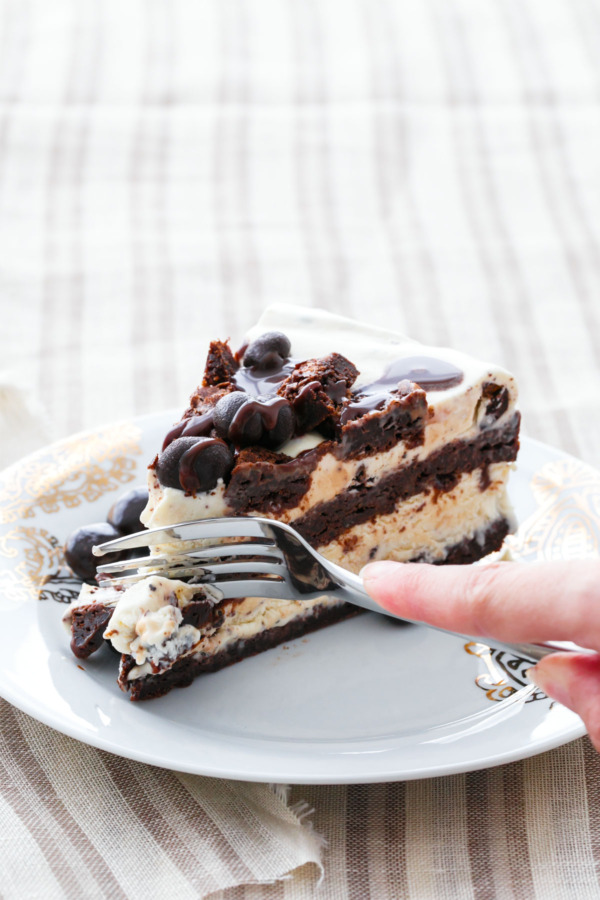 Espresso Fudge Brownie Mudslide Ice Cream Cake
