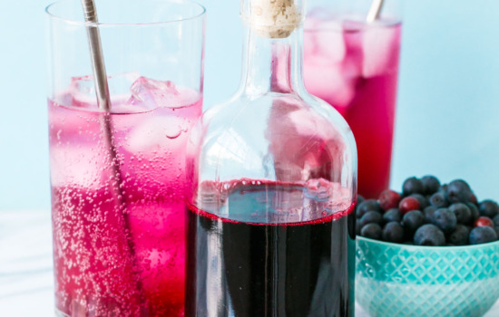 Homemade Blueberry Syrup for sodas, cocktails, and more!