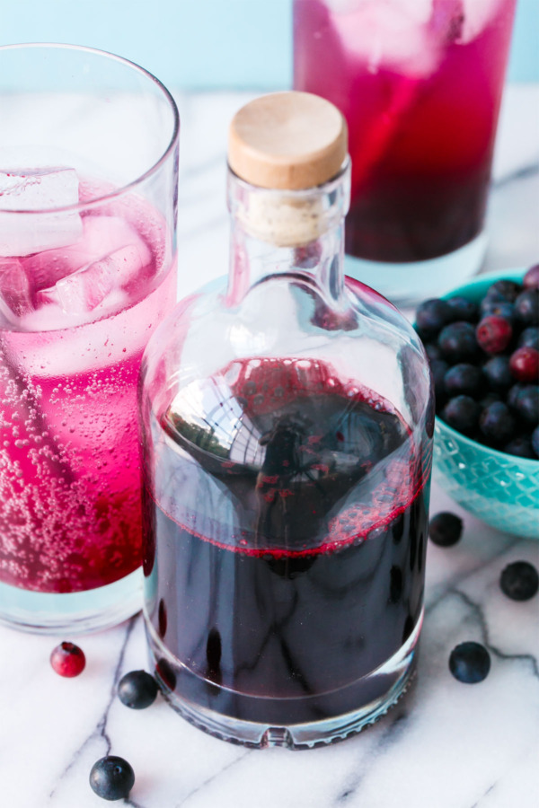 Homemade Blueberry Syrup for Sodas and more!