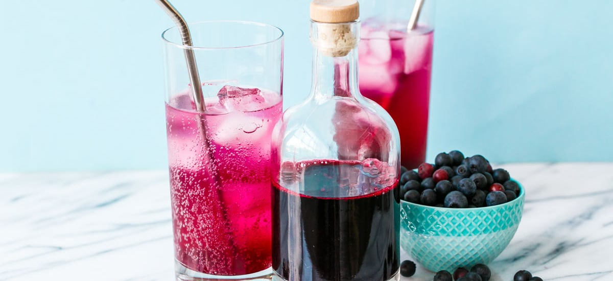 Homemade Blueberry Soda Syrup
