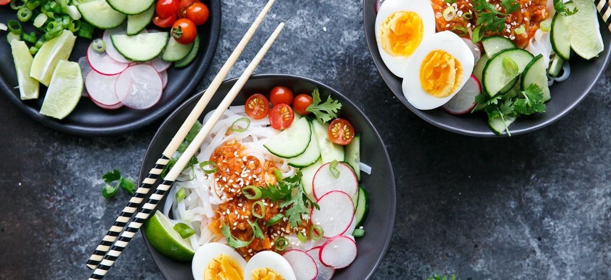 Cold Spicy Kimchi Noodles