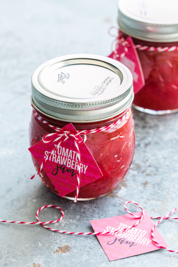 Strawberry Tomato Jam with FREE Printable Labels