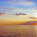 Carnival Vista Mediterranean Cruise: Sunset off the coast of Italy