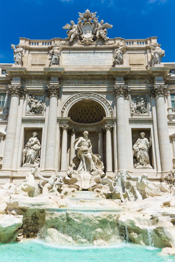 Carnival Vista Mediterranean Cruise: Trevi Fountain in Rome, Italy
