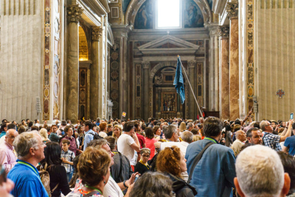 Carnival Vista Mediterranean Cruise: Inside St. Peter's Basilica in Rome, Italy
