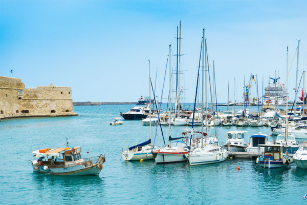 Carnival Vista Mediterranean Cruise: Boats in Crete (Heraklion) Greece