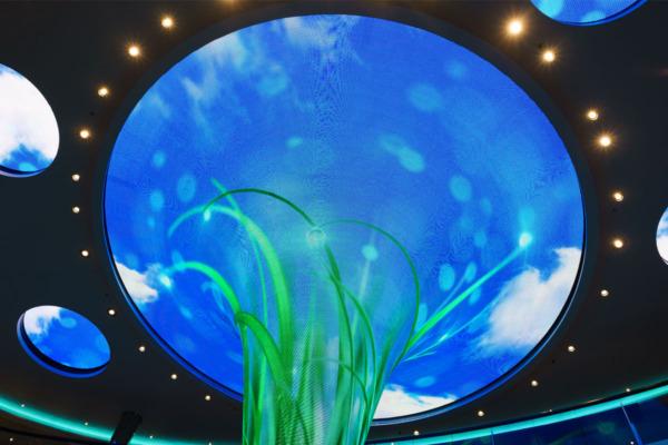 """""""Dreamscape"""" in the central atrium of the Carnival Vista"""