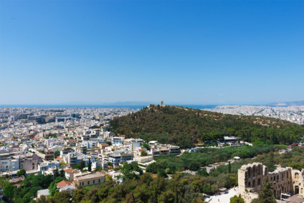 Carnival Vista European Cruise: View from the Acropolis in Athens, Greece