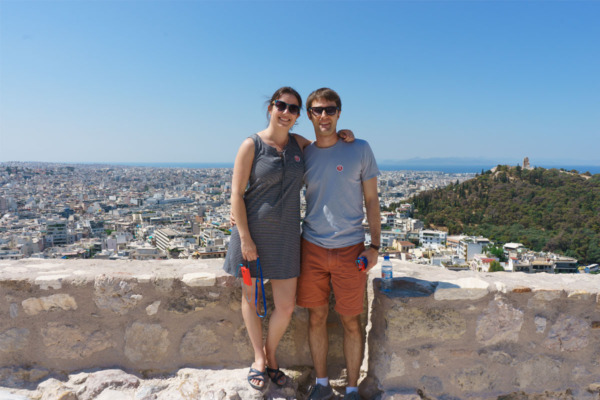Carnival Vista Mediterranean Cruise: View from the Acropolis in Athens, Greece