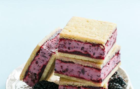 Buttermilk Blackberry Jam and Sugar Cookie Ice Cream Sandwiches