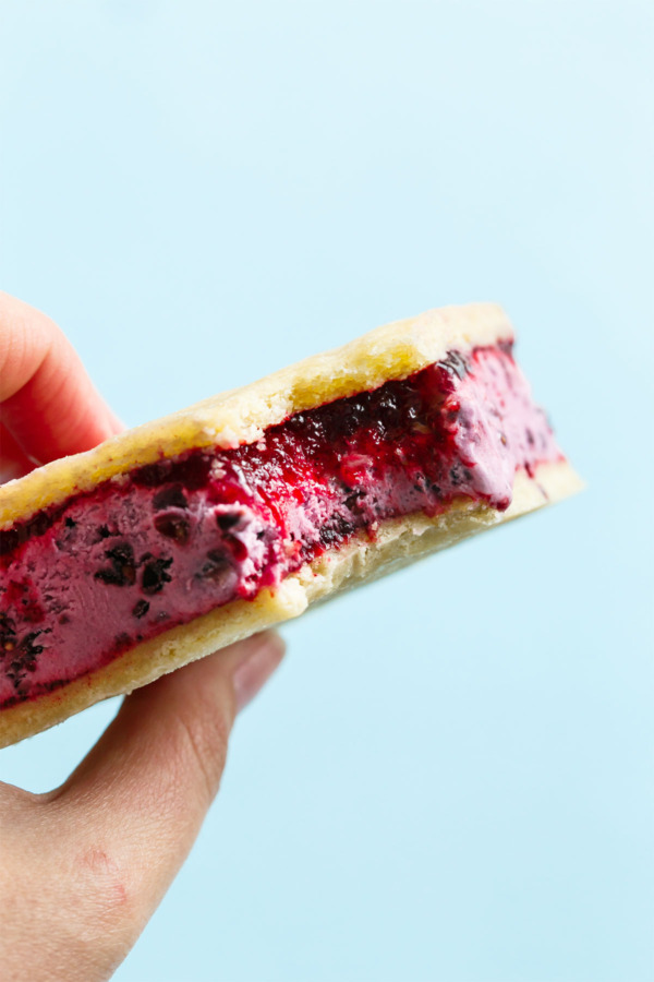 Buttermilk Blackberry Jam And Sugar Cookie Ice Cream Sandwiches