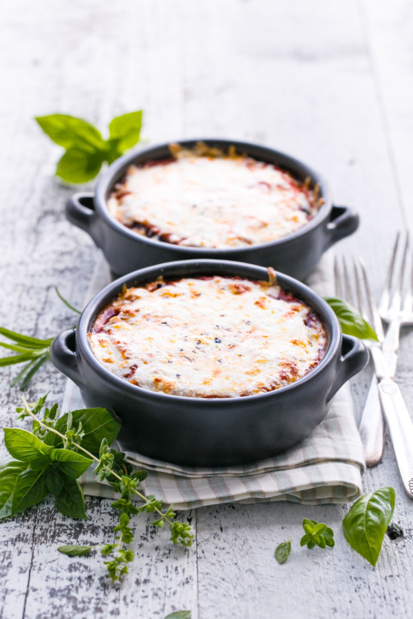 Baked Single-Serving Eggplant Parmesan