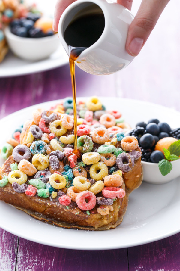 Fruit Loops French Toast from Carnival Cruiselines