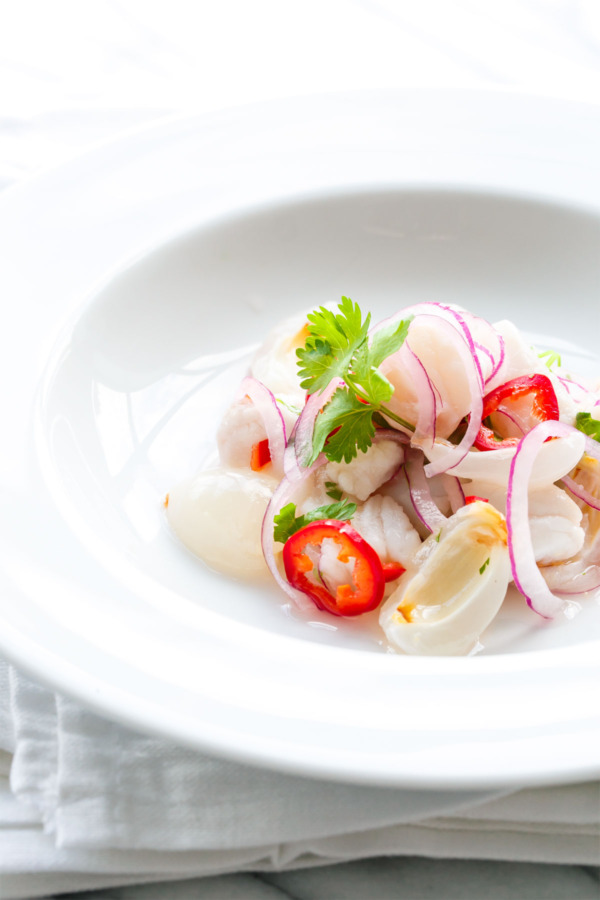 Fresh Lychee & Snapper Ceviche