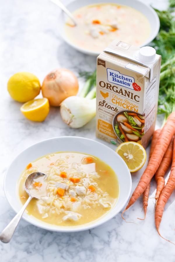 Quick & Easy One-Pot Lemon Chicken Orzo Soup Recipe