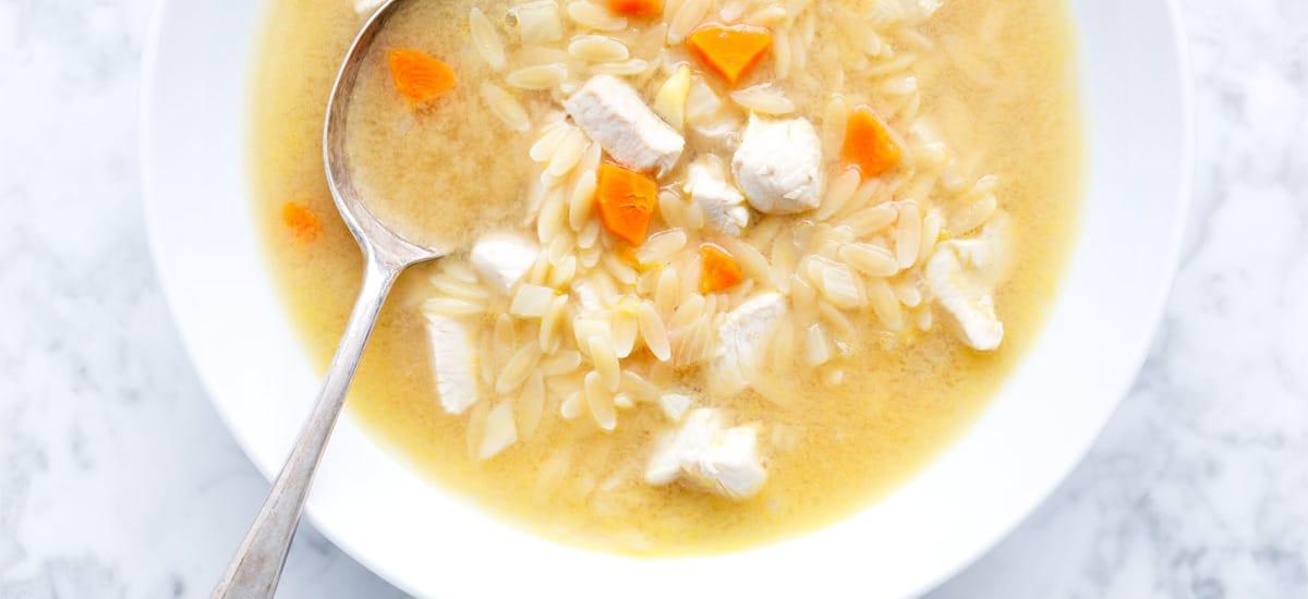 One-Pot Lemon Chicken & Orzo Soup