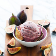 Fresh Fig Ice Cream with Chocolate Shards