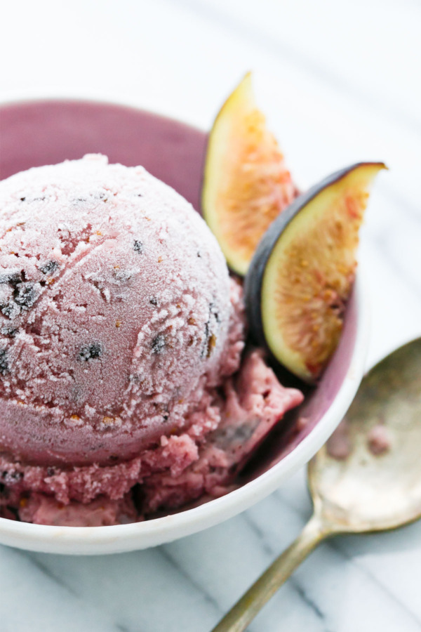 Fresh MIssion Fig Ice Cream with Chocolate Bits