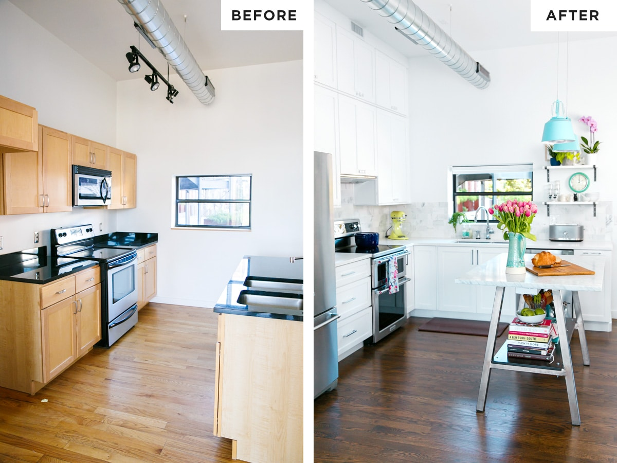 Final reveal kitchen renovation before after love and for Kitchen renovation before and after